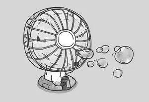 """都别联系我 因为小编要在冰箱里""""修炼""""几天 这天气分分钟想带上电风扇图片"""