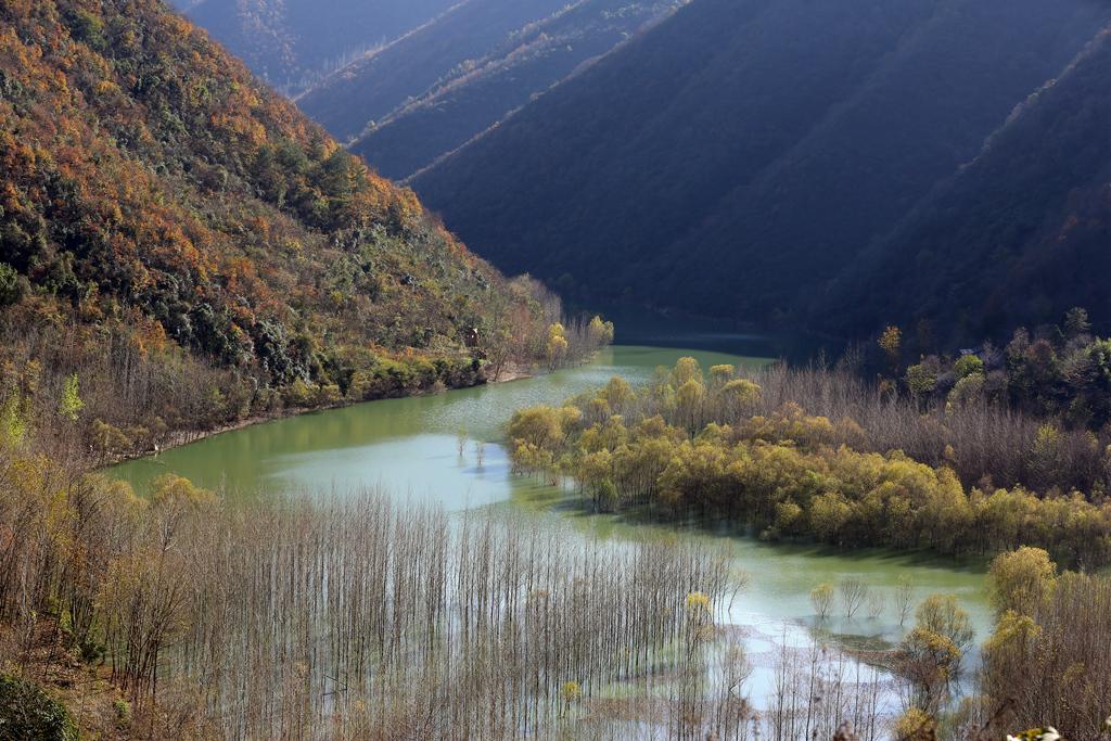 秋冬之交鱼泉河村的别样景色